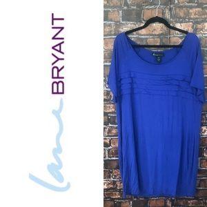 Lane Bryant Blue Tunic Shirt Dress